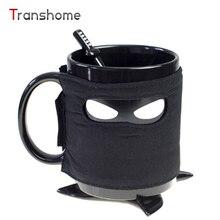 Kreative Ninja Becherschale Kaffeetasse Bahnen Rühren Löffel Mit Abnehmbaren Isolierte Tasse Keramik-tasse Transhome