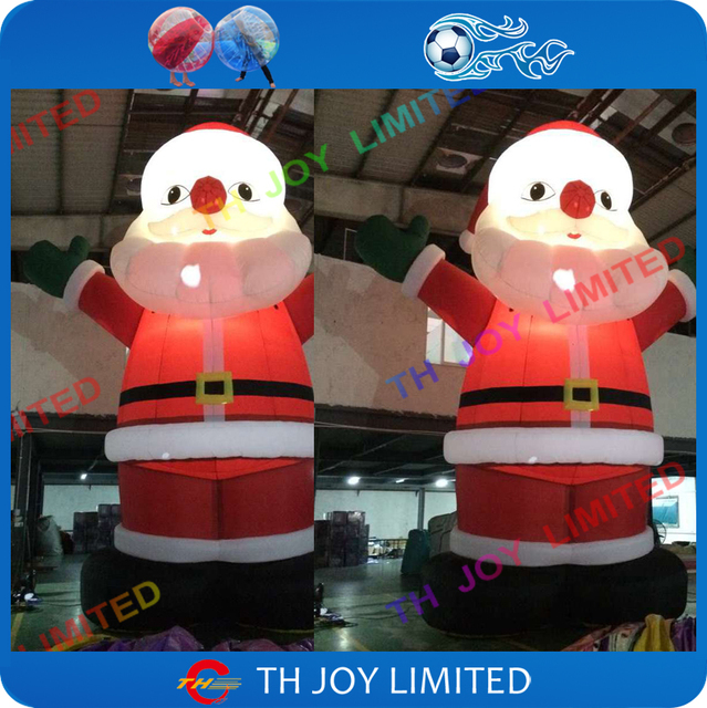 Aliexpress buy m ft inflatable santa claus led