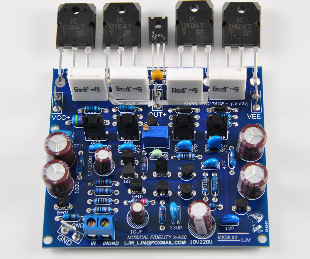 Ljm Mx50x2 Class Ab Audio Power Amplifier Amp Kit 2 Channel In 2x100w D Circuit Hip4081a 200w From Consumer Electronics On Alibaba Group
