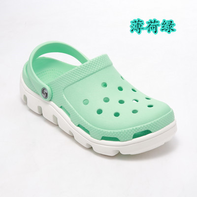 15 Colors Stitching New Woman Flat Sandals Soft EVA Clogs Summer Casual Hole Shoes Light Beach Slippers 42 43 44 45