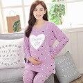Новый Материнства Пижамы одежда для Беременных Пижамы Уход Грудное Вскармливание Ночная Рубашка Бесплатная доставка