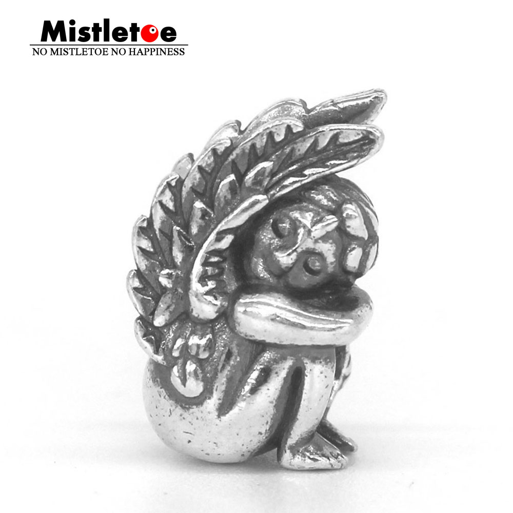 Mistletoe Genuine 925 Sterling Silver Angel's dream Charm Bead Fit Redbalifrog ACA OHM Troll And Pan Bracelet Jewelry газонокосилка бензиновая hyudai l 5000 s