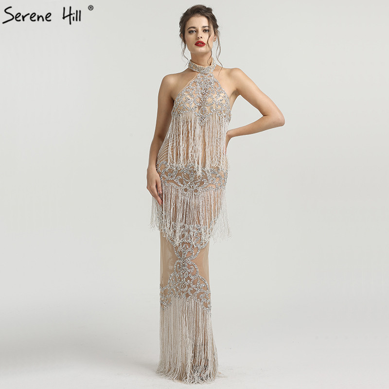 Sexy Arabic Long Off Shoulder Champagne Crystal Beaded Mermaid Formal Evening Party Prom Gown Dress Abendkleider Gowns BLA6470 gown