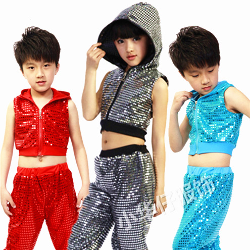 Kids Clothing Tail-Pants Dance-Costume Sequined Hip-Hop Girls Children Jazz Gorgeous