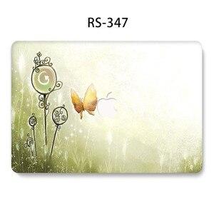 Image 5 - Flor Pintada Laptop Funda para MacBook Air Pro 13 15 12 11 polegada Cheia Tampa Caso Difícil para Macbook Retina polegada A1932 A1286 Coque