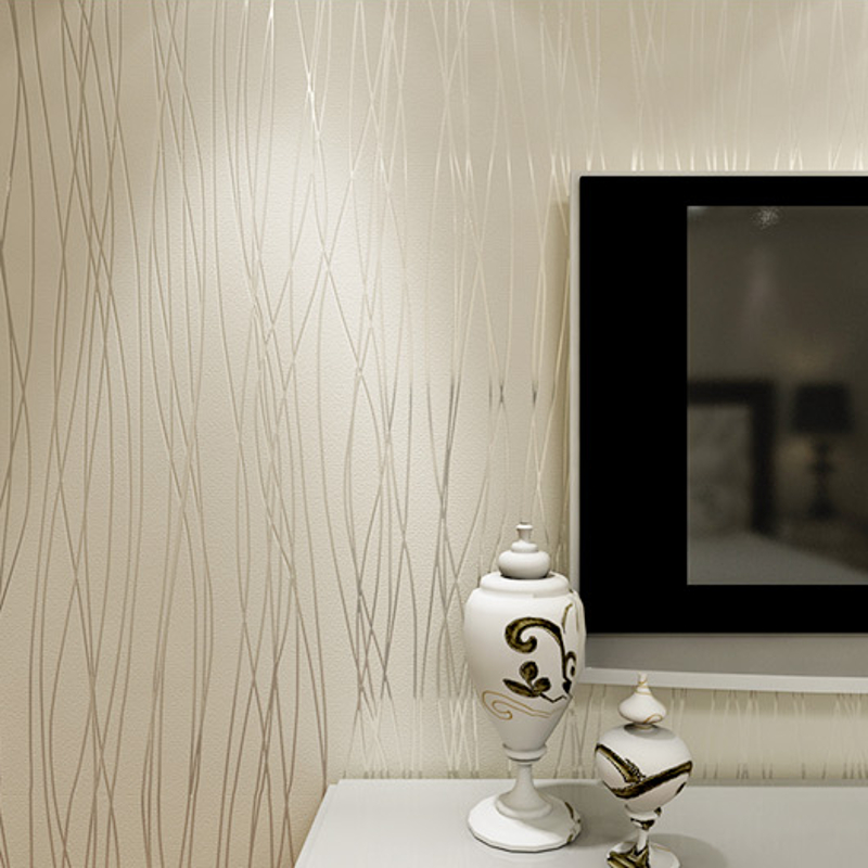 White Pink Beige Modern 3d Embossed Textured Lines