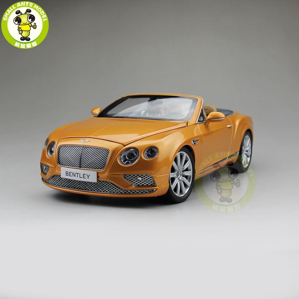 Bentley Convertible Car: 1/18 Paragon Bentley Continental GT Convertible Sunburst