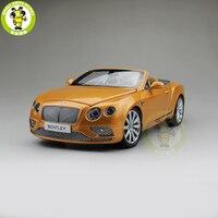 1/18 paragon Bentley Continental GT кабриолет Sunburst золото Diecast металлическая модель автомобиля игрушка PA 98232 подарок коллекция хобби