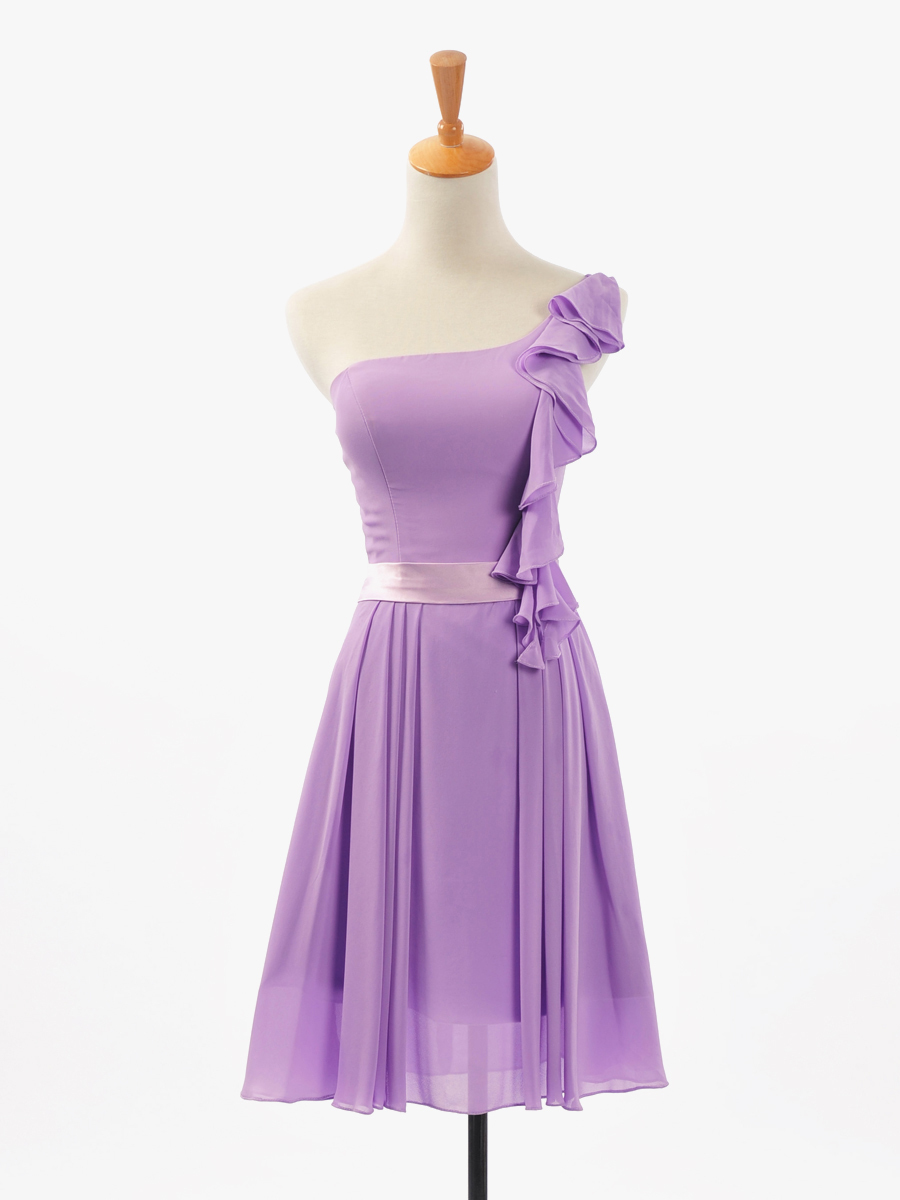 Online get cheap lavender bridesmaid dresses under 100 aliexpress cheap one shoulder short lavender chiffon bridesmaid dresses 2016 under 100 sexy ruffles prom party gowns real photos ombrellifo Image collections