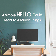 Modern hello Wall Sticker Pvc Removable For Baby Kids Rooms Decor Background Art Decal