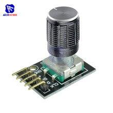 KY-040 поворотный переключатель модуль кодировщика с 15 × 16,5 мм потенциометром поворотная ручка Крышка для Arduino