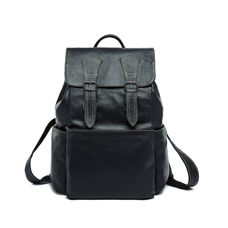 Mini Backpack Men Genuine Leather Women Bagpack 13 3 Inch Laptop Back Pack for Teenager Boys