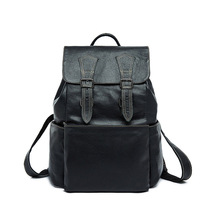 Mini Backpack Men Genuine Leather Women Bagpack 13.3 Inch Laptop Back Pack for Teenager Boys Bag Large Capacity Travel Hand Bag