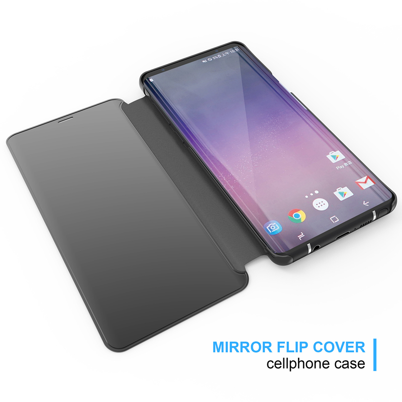 Smart Mirror Flip Cover for Samsung Galaxy S10 Lite S8 S9+plus Leather Phone Case for Galaxy S6 12