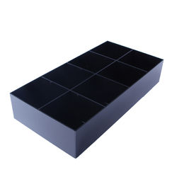 Schwarz Acryl Krawatte Vitrine Für 8 Krawatten Gürtel Schmuck Zubehör Aufbewahrungsbox