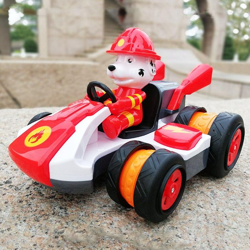 Dessin animé chien télécommande jouets RC voiture enfants multi-fonction dérive cascadeur Kart garçons jouets voiture électrique 1-6-10-13 ans boîte-cadeau