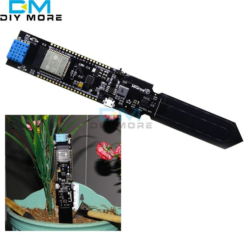 ESP32 REV1 Wi-Fi и <font><b>Bluetooth</b></font> DHT11 температура почвы и датчик влажности модуль обнаружения с 18650 Держатель литиевая батарея