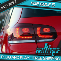 AKD tuning cars Tail lights For VW Golf 6 Golf6 MK6 R20 Taillights LED DRL Running lights Fog lights angel eyes Rear parking
