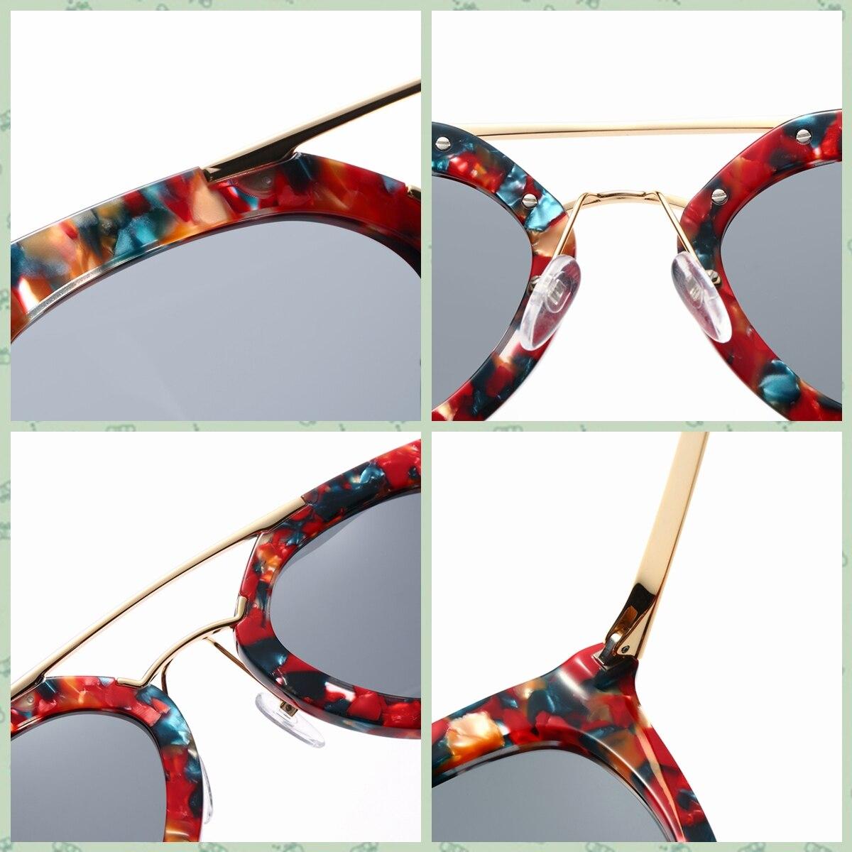 Kézzel készített valódi acetát szemüveg napszemüveg a nők - Ruházati kiegészítők - Fénykép 6
