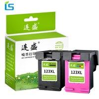 2Pack 123XL 123 xl Refilled Ink Cartridge for HP Deskjet 1110 2130 2132 2133 2134 3630 3632 3637 3638 4520 4513 printers