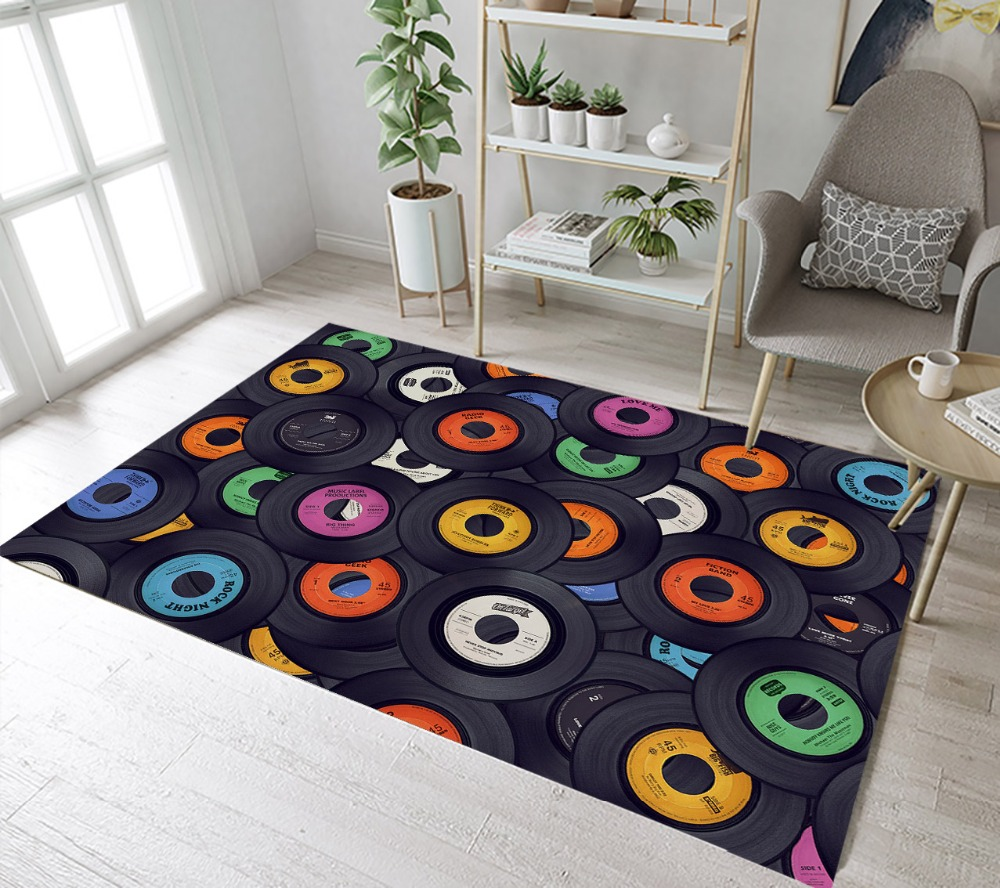 Funny Vinyl Records Rugs And Carpets For Kids Baby Home