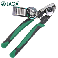 LAOA 7inch Wire Rope Cut Scissors Wire Cutters Multifunction American Type CR MO Aviqtion Linesman Snips