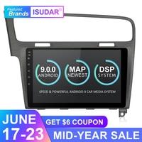 Isudar Car Multimedia Player 1 Din DVD Automotivo Android 9 For VW/Volkswagen/Golf 7 Radio GPS Quad Core RAM 2GB ROM 16GB DVR FM