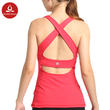 Women Yoga Vest  Workout Vest Fitness Training Exercise Running Clothing Sportswear Padded Sleeveless Tops  Quick-Dry Breathable