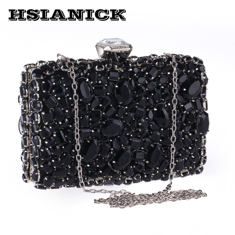 Woman Sale Real Hard Luxury Bag 2018 European And American Style High-grade Diamond Dinner Banquet Evening Clutch Party Handbag 2017 woman direct selling high grade luxury gold full diamond design female evening bag handbag party clutch wedding handbags