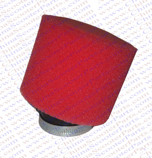 2PCS 42MM Air filter Sponge Bent Adapter  Red Core Red Coat 200CC Mini Moto Dirt Pit Bike ATV Quad Scooter Buggy Parts