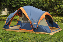 Fully automatic Two hall 6-8 person double layer camping tent/against large family tent