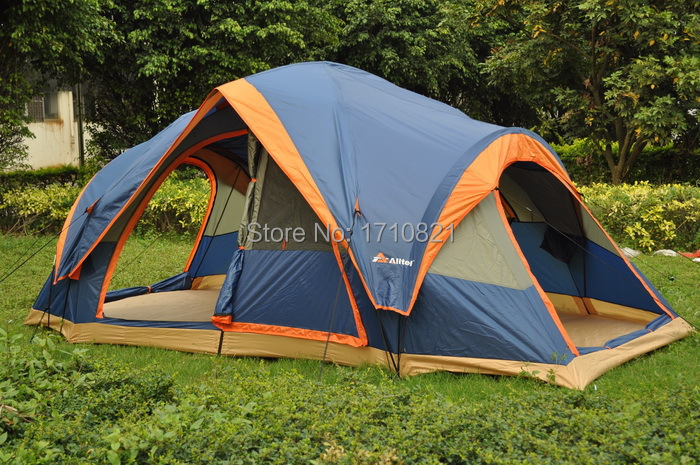 Fully automatic Two hall 6-8 person double layer camping tent/against  large family tent new arrival fully automatic two hall 6 8 person double layer camping tent against big rain large family outdoor tent 190cm high