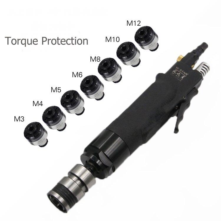 Self-locking Pneumatic Tapping Machine 400rpm Tapper Tool Torque Protected & 7pc Chucks M3/M4/M5/M6/M8/M10/M12  цены