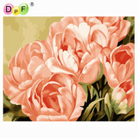 DPF Digital Oil Painting By Numbers Frameless Paint On Canvas Wall Pictures For Living Room