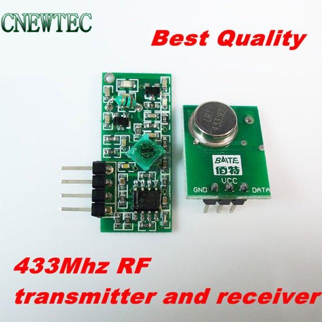 Best качество 1 пара/лот 433 мГц Superregeneration Беспроводной передатчик Модуль охранной сигнализации и модуль приемника
