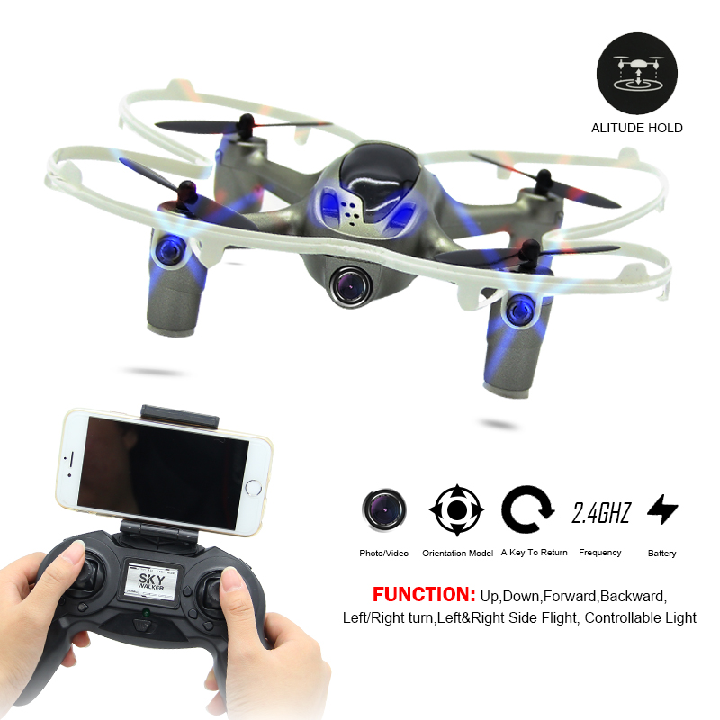 Mini Quadcopters RC Helicopter Wifi Camera Drone Light Remote Control Drones With High Hold Mode Use Controller or Mobile Phone! mini drone rc helicopter quadrocopter headless model drons remote control toys for kids dron copter vs jjrc h36 rc drone hobbies