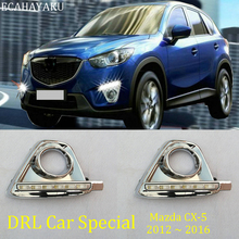 ECAHAYAKU Car-styling 6000K DRL LED Daytime Running Light For Mazda CX-5 CX5 2012 2013 2014 2015 2016 fog lamp headlight offroad