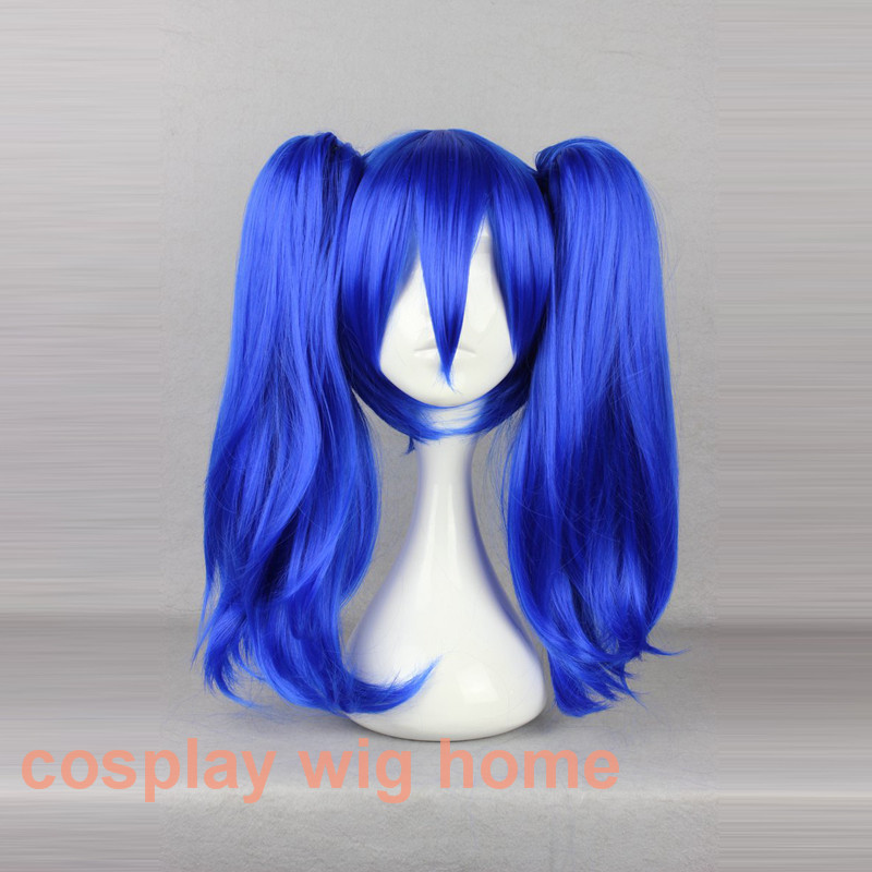 MCOSER Kagerou Project-Enomoto Takane 45cm Blue Ponytails Wig Synthetic Women Costume Party Cosplay