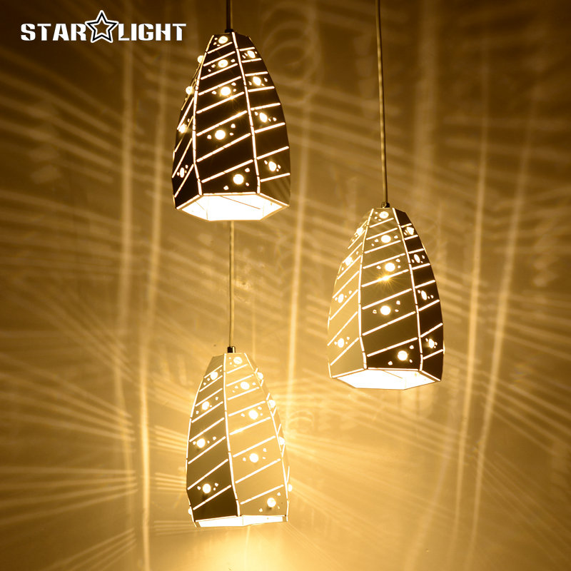 Crack light series Modern LED Pendant light crystal shape shade Lamp for Bedroom Living Room luminaria Indoor Pendant lamp modern crystal lamp round shape led pendant light for bedroom living room lighting