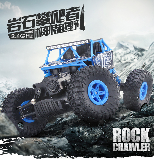 2 4g Clic Rock Climber Boy Electric Four Wheel Drive Double Magnetic Motor Car Extreme Off Road Climbing Lasting