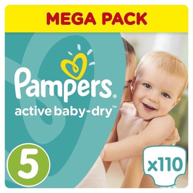 Подгузники Pampers Active Baby-Dry 11-18 кг, 5 размер, 111 шт.