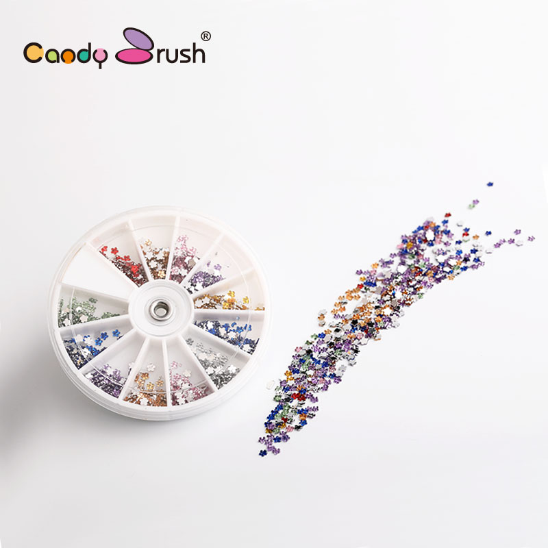 Colorful Nail Art Decorations Mixed Glitter Adhesive Crystal  Rhinestones for Design