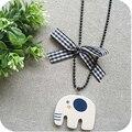 Venta al por mayor OMH On0022 accesorios de lana arco collar collar de mujer 12 g