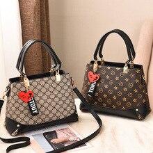 7b5c1d1acc Women's bag spring 2019 new fashion trend handbag PU leather women's bag  European and American big