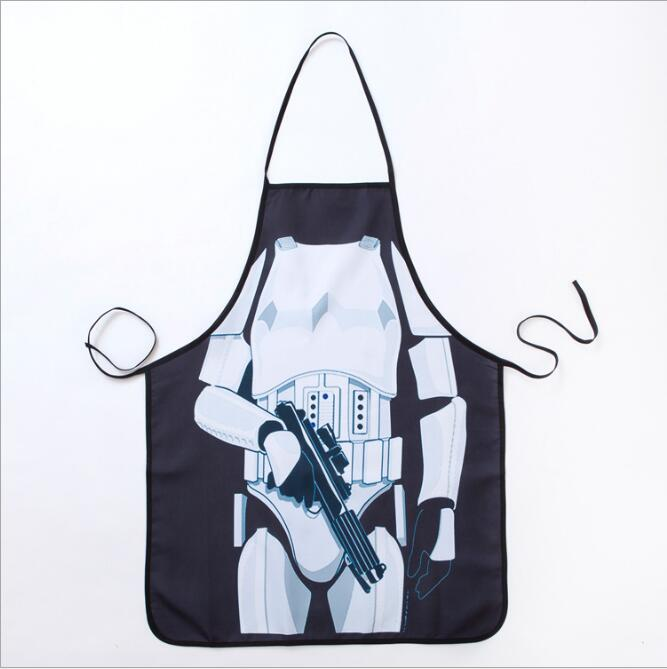 1pcs/set Cool Cooking Apron Funny STAR WARS White Warrior Aprons Men Women Cooking Party Bibs Carth aprons