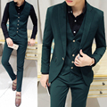 free shipping terno masculino mens Night club singer stage show costume stylist fashion casual suit slim fit 3-piece set male