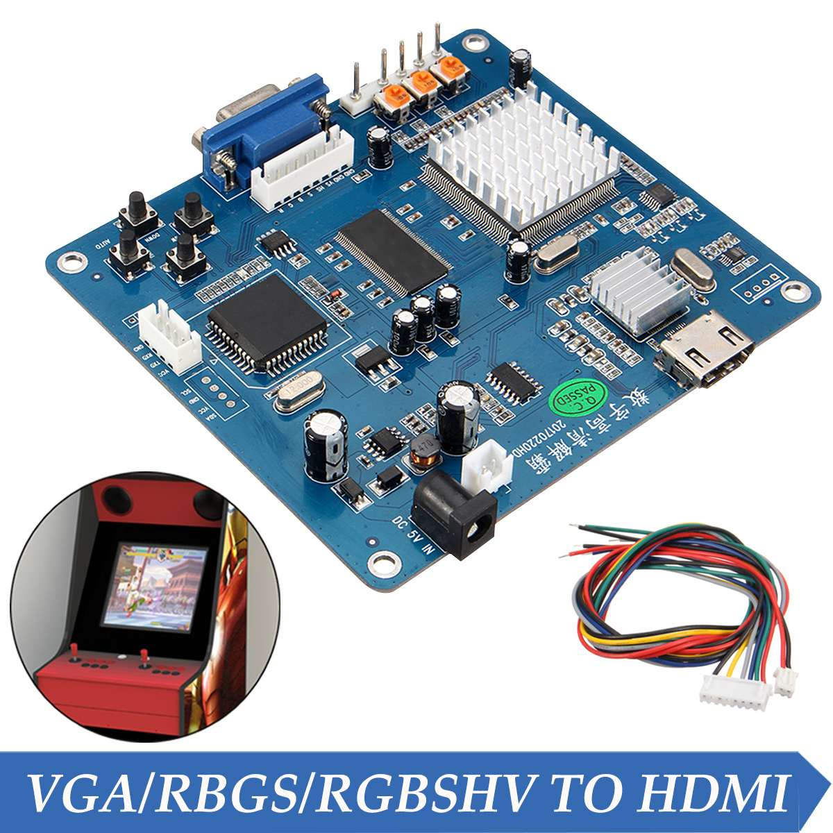 Arcade Game Video Output Converter Board VGA/RGB/CGA/EGA/YUV TO HDMI HD/Jamma Arcade Game Machine Video Output Converter Board free shipping pandora box 4 vga cga output for lcdcrt 645in1 game board arcade bundle video arcade jamma accesorios kit arcade