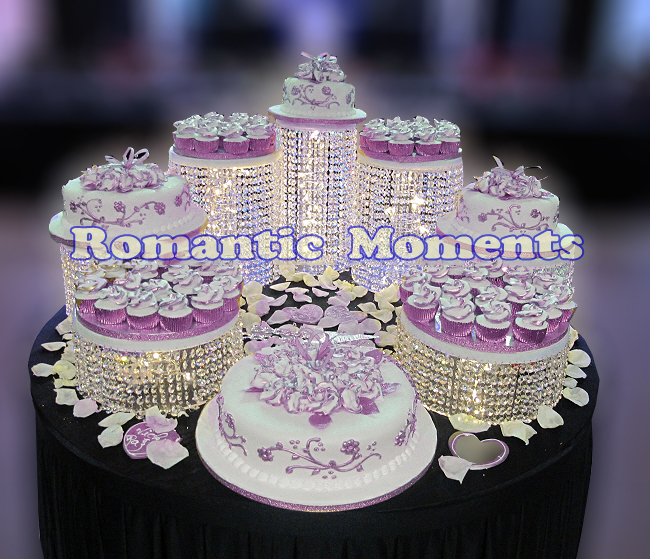 7pcs Cake Holders Wedding Crystal Cake Stand Wedding Centerpiece