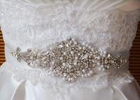 도매 라인 스톤 applique의 신부 액세서리 크리스탈 트림 라인 스톤 구슬 웨딩 드레스 띠 벨트 헤드 밴드 보석