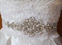 Al por mayor rhinestone applique nupcial Accesorios ajuste cristalino rhinestone Beaded vestido de novia SASH cinturón diadema joyería